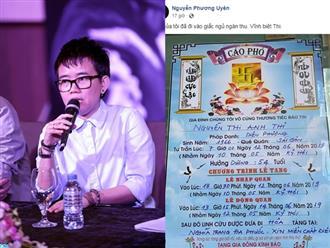 Nhạc sĩ Phương Uyên đau buồn thông báo chị ruột qua đời khiến nhiều người xót xa