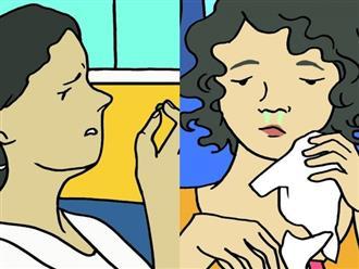 Nhìn màu sắc nước mũi, đoán biết được bệnh 'nguy hiểm' bạn có thể mắc phải