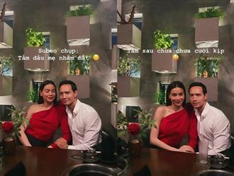 Nhờ con trai Subeo chụp giúp bức ảnh Valentine bên Kim Lý, Hà Hồ hết hồn khi xem thành quả