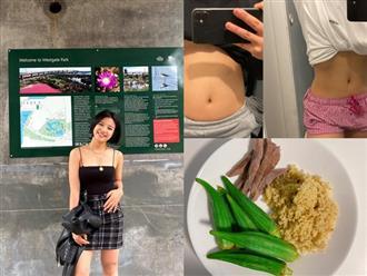 Nhờ Eat Clean và Chloe Ting Challenge, cô nàng du học sinh giảm 3kg với cơ bụng số 11 hiện rõ sau 2 tuần