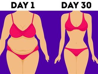 Những bài tập kiên trì để eo thon trong 30 ngày