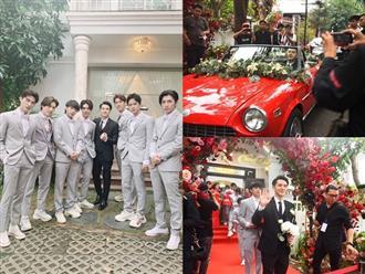 Những hình ảnh đầu tiên trong đám cưới Đông Nhi và Ông Cao Thắng: Chú rể dùng siêu xe đón dâu