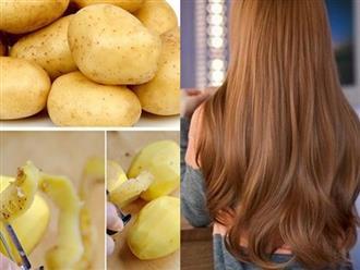 Nhuộm tóc vàng, lên màu tự nhiên bằng hoa cúc và khoai tây