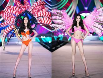 Nóng hừng hực Top 35 HHVN 2020 trình diễn bikini như Victoria's Secret: Người khoe vòng 1 siêu khủng, kẻ lộ khuyết điểm rõ rệt