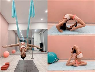 Ốc Thanh Vân khiến dân mạng kinh ngạc khi khoe khoảnh khắc con gái tập yoga với tư thế cực khó, người lớn cũng phải 'bó tay'