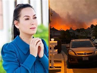 Phi Nhung đứng ngồi không yên khi biết tin có hỏa hoạn gần nơi con gái ở