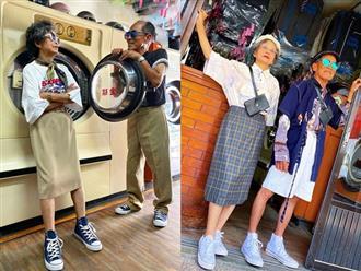"""Phong cách thời trang khiến giới trẻ """"ghen tị"""" của cặp vợ chồng U80"""
