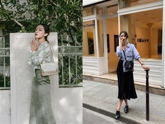 Quá xinh nên chẳng thể làm ngơ: 12 ý tưởng diện áo sơ mi/blouse + chân váy giúp nàng công sở tỏa sáng hơn cả nắng thu