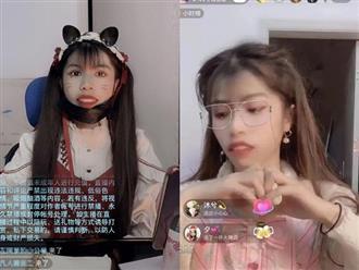 """Quên tắt app làm đẹp, hot girl Trung Quốc lộ hàm răng """"vêu vao"""", mặt mũi """"ghồ ghề"""" khiến fan khiếp vía"""