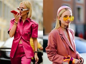 Quy tắc mặc màu hồng không sến cũng chẳng bánh bèo