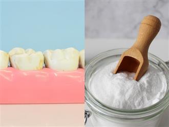 Răng trắng bóc sau khi tẩy bằng baking soda nhưng lợi bất cập hại