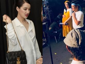 Rò rỉ hình ảnh Nhã Phương diện váy bầu thoải mái đi chợ cùng Trường Giang