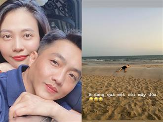 Rủ Cường Đô la đi 'trốn dịch', Đàm Thu Trang khiến dân mạng cười bò vì rất chăm đăng ảnh 'dìm hàng' ông xã