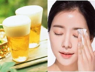 Rửa mặt bằng bia - vừa trị mụn hiệu quả, vừa làm trắng da