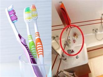 Rước cả ổ bệnh vào nhà chỉ vì để những thứ này trong phòng tắm