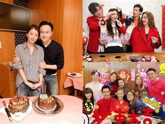 Sao Hoa ngữ bên gia đình ngày Tết, Huỳnh Hiểu Minh vẫn đóng phim