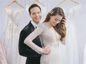 Sau 2 năm hẹn hò, Hà Hồ và Kim Lý rủ nhau đi thử váy cưới, stylist úp mở chuyện kết hôn