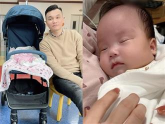 Sau 3 tháng chào đón cặp song sinh, Khắc Việt lần đầu khoe ảnh cận mặt con gái khiến dân mạng thích thú