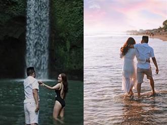 Sau nửa năm kết hôn, lần hiếm hoi Bảo Thy chia sẻ khoảnh khắc diện bikini tình tứ bên ông xã đại gia