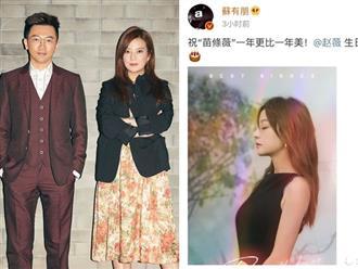 Sinh nhật tuổi 43 của Triệu Vy, chồng 'lặn mất tăm' không gửi lời chúc thế nhưng ở đây vẫn luôn có một Tô Hữu Bằng