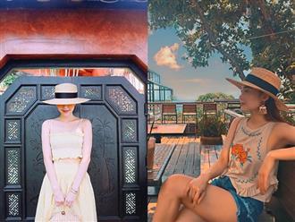 """Style """"du hí"""" của Minh Hằng sẽ gợi ý bạn phong cách ăn mặc cực xịn xò ngày nắng lên"""