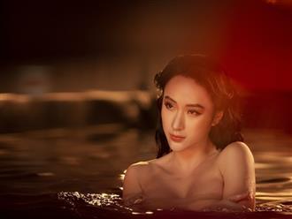 Tái xuất sau thời gian ở ẩn, Angela Phương Trinh tung clip hậu trường khoe body 'lúc ẩn lúc hiện' giữa mặt hồ