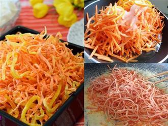 Tết đến, chị em thi nhau học cách làm mứt cà rốt sợi thơm ngon, bổ dưỡng để đãi khách