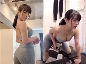 Thiên thần áo tắm sở hữu vòng 1 cả mét gây sốt CĐM với đoạn clip mướt mồ hôi trong phòng gym