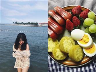 Thực đơn ăn kiêng giảm 4kg sau một tháng của cô sinh viên Hà Nội