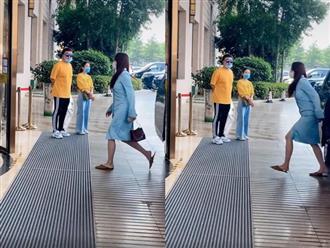 """Thực hư hình ảnh Đường Yên xuất hiện với vòng bụng xổ to sau khi hạ sinh cặp """"long phụng"""" cho ông xã La Tấn"""
