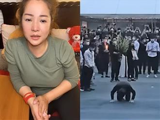 Thúy Nga nghẹn ngào tiết lộ lý do Hoài Linh cúi sát đất vái lạy khán giả trong đám tang NS Chí Tài