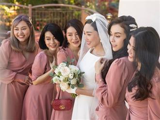 Dậy sóng hình nét căng hiếm hoi trong hôn lễ kín của Tóc Tiên: Nhan sắc cô dâu nổi bật giữa dàn phù dâu toàn hotgirl