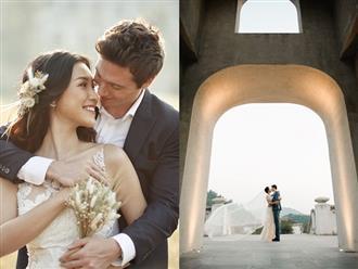 Tung ảnh cưới đẹp lung linh bên chồng soái ca, Hoàng Oanh khiến fan phải thốt lên: 'Con sinh ra là cực phẩm'