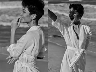 Tung ảnh mặc 'đồ ngủ' trên bãi biển, H'Hen Niê đẹp đến nao lòng khiến fan 'tan chảy'