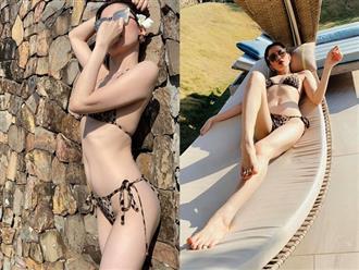 U40 Lệ Quyên lại khiến hội chị em 'phát hờn' với thân hình thon gọn đến khó tin khi diện bikini