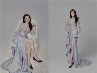 U50 vẫn xinh đẹp, Viên Vịnh Nghi tự tin diện váy khoét sâu khoe vòng 1 căng tròn quyến rũ