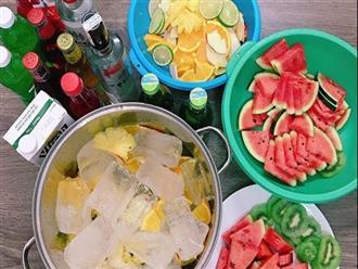 Uống rượu pha nước ngọt và trái cây: Vừa hại não, vừa có nguy cơ nhiễm độc