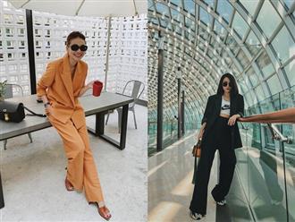 Vbiz có 3 tấm gương mặc áo blazer siêu đẹp siêu chất, đó là Phạm Thanh Hằng, Hương Giang và Yến Trang