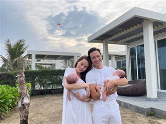 Vi vu dịp đầu năm, Hồ Ngọc Hà hạnh phúc khoe ảnh chụp cùng Kim Lý và 2 thiên thần nhỏ cực đáng yêu