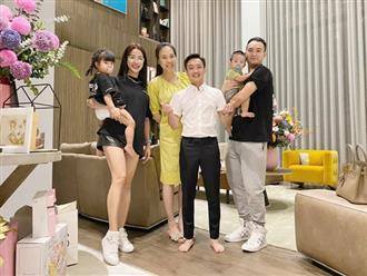 Vợ chồng Cường Đô la mở tiệc mừng đầy tháng con gái, nhan sắc mẹ bỉm sữa Đàm Thu Trang gây chú ý