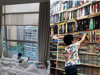 Vợ chồng Hà Tăng thay nhau khoe ảnh con trên trang cá nhân, điều gây chú ý nhất là sở thích đặc biệt của cậu cả