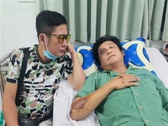 Xót xa hình ảnh nghệ sĩ Trọng Phúc nằm trên giường bệnh, chấn thương mặt và vai sau tai nạn