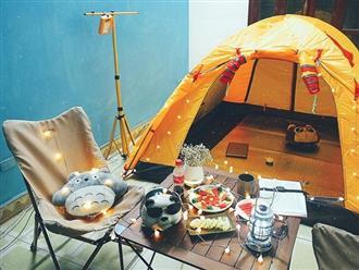 """""""Ở nhà là yêu nước"""", các 'dân chơi' cắm trại ngay tại gia thế mà cũng """"chill"""" ra phết"""