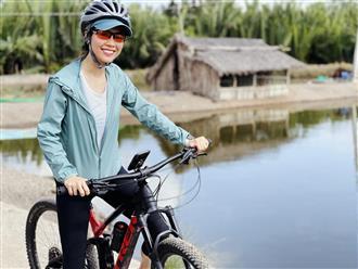 Đạp xe 'một phát' 53km xuống Cần Giuộc, Á hậu Hoàng My chia sẻ bí quyết 'sống còn' cho ai lần đầu đạp xe