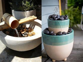 12 cách tự chế thác nước nhân tạo cho vườn nhà đón Tết siêu đẹp mà không mất quá nhiều tiền