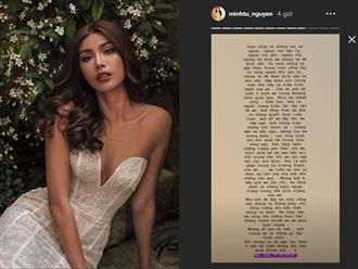 3 tháng sau khi tiết lộ có bạn trai, siêu mẫu Minh Tú viết tâm thư xác nhận đã chia tay