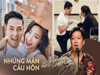 5 màn cầu hôn ấn tượng nhất Vbiz: Trấn Thành chi cả trăm triệu, Trường Giang gây tranh cãi còn Hà Hồ viral khắp MXH!