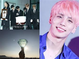 Ngày đưa tiễn Jonghyun về nơi an nghỉ cuối cùng, bầu trời xuất hiện điều kỳ diệu khiến fan không thể tin vào mắt mình
