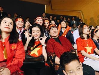 Á hậu Huyền My đi xem bóng đá cùng mẹ cầu thủ Quang Hải, Đức Huy