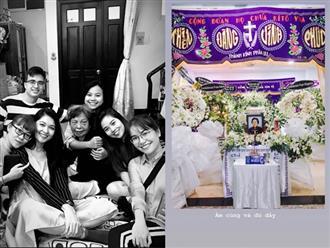 Á hậu Thùy Dung đau buồn khi bà ngoại qua đời